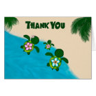 Honu GIRL Sea TURTLE Baby Shower Thank You Pink Card