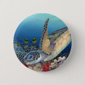 Honu (Green Sea Turtle) 2 Inch Round Button