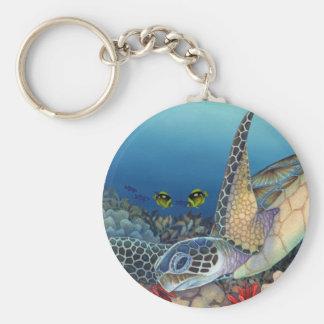 Honu (Green Sea Turtle) Basic Round Button Keychain