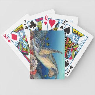 Honu (Green Sea Turtle) Bicycle Playing Cards