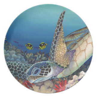 Honu (Green Sea Turtle) Dinner Plate