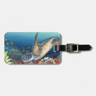 Honu (Green Sea Turtle) Luggage Tag