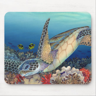 Honu (Green Sea Turtle) Mouse Pad