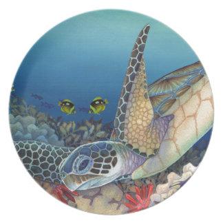 Honu (Green Sea Turtle) Plate