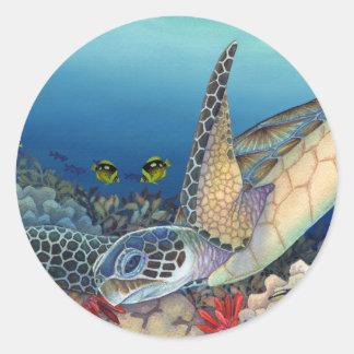 Honu (Green Sea Turtle) Round Sticker