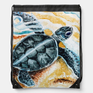 Honu Hatchlings Drawstring Bag