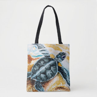 Honu Hatchlings Tote Bag