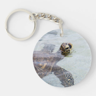 Honu Hawaiian Sea Turtle - Hawaii Turtles Single-Sided Round Acrylic Keychain
