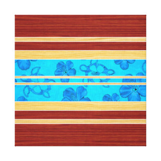 Honu Hawiian Faux Wood Surfboard Canvas Print