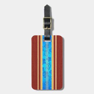Honu Hawiian Faux Wood Surfboard Luggage Tag