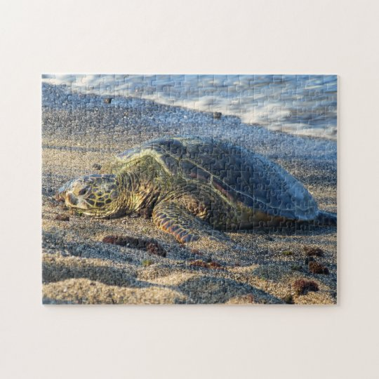 Honu on the warm Sand Jigsaw Puzzle