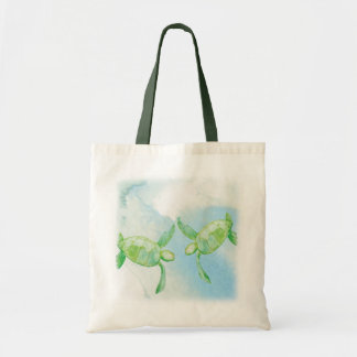Honu Pair Canvas Tote Bag