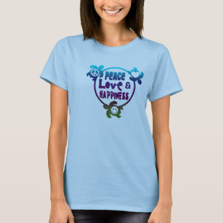 Honu Peace Love Happiness T-Shirt