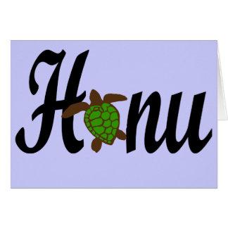 HONU sea turtle blank card