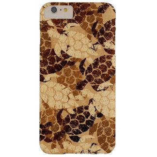 Honu Sea Turtle Hawaiian Aloha Faux Koa Wood Barely There iPhone 6 Plus Case