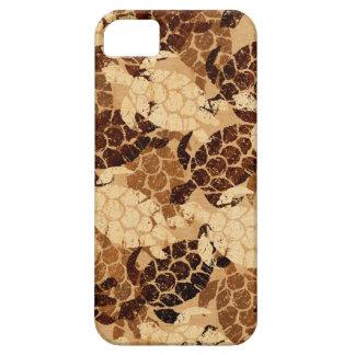 Honu Sea Turtle Hawaiian Aloha Faux Koa Wood iPhone 5 Case
