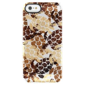 Honu Sea Turtle Hawaiian Aloha  - Faux Wood Clear iPhone SE/5/5s Case
