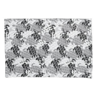 Honu Sea Turtle Hawaiian Aloha Reversible Black Pillowcase