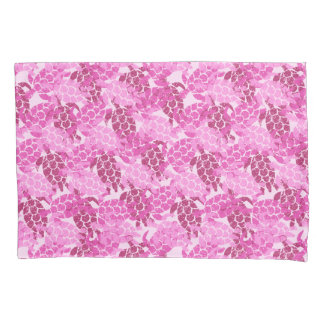 Honu Sea Turtle Hawaiian Aloha Reversible Pink Pillowcase