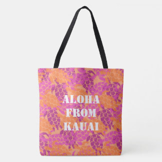 Honu Sea Turtle Hawaiian Monogram Aloha Beach Bag