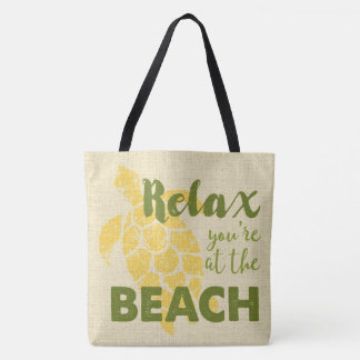 Honu Sea Turtle Hawaiian Relax Reversible BeachBag Tote Bag