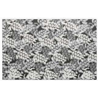 Honu Sea Turtle Hawaiian Tapa -Black Fabric