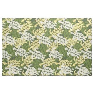 Honu Sea Turtle Hawaiian Tapa -Olive Fabric