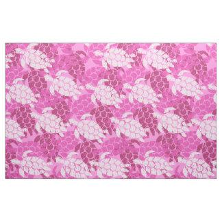 Honu Sea Turtle Hawaiian Tapa -Pink Fabric