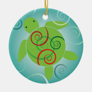 Honu Swirls Christmas Ornament
