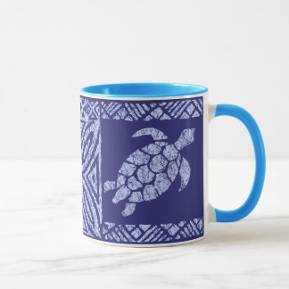 Honu Tapa Hawaiian Primitive Turtle Mug