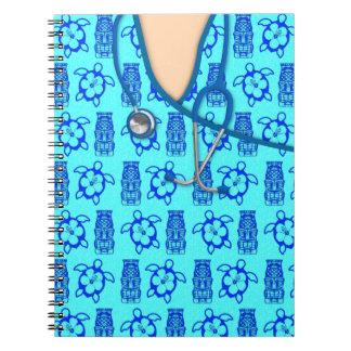 Honu Tiki Island Medical Scrubs Note Books