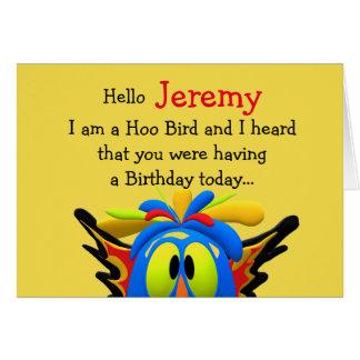 Hoo Bird Personalized Happy Birthday Card