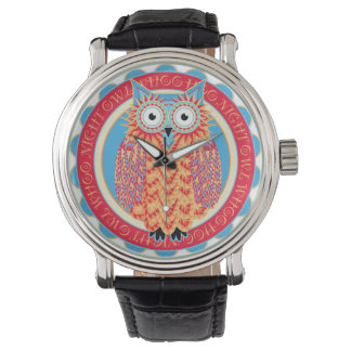 Hoo Hoo Cute Little Owl Drawing in Bright Colors Watch