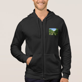 Hood jacket with picture of South Tyrol