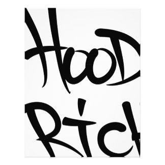 hood rich letterhead design