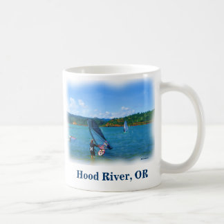 Hood River, Oregon windsurfers coffee mug