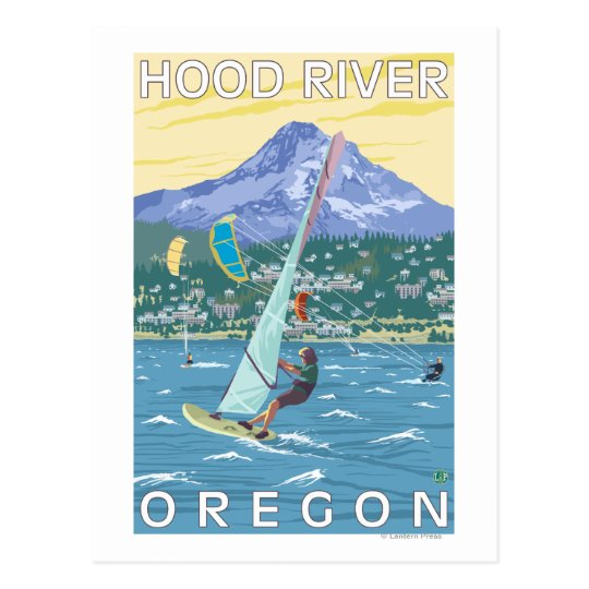 Hood River, ORWind Surfers & Kite Boarders Postcard