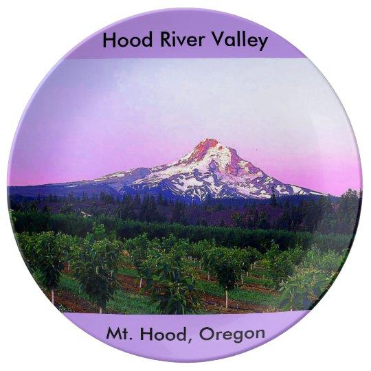 Hood River Valley and Mt. Hood, Oregon Porcelain Plate