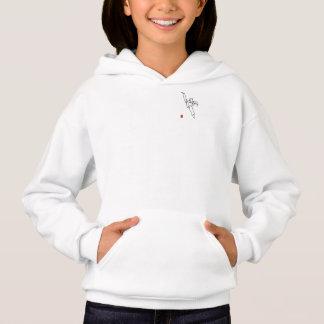 Hood sweater DWICHAGI back kick girl