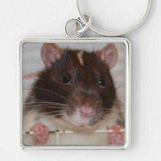 Hooded Fancy Rat Large Keychain