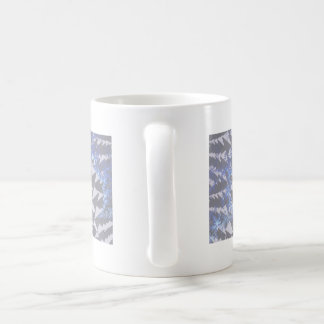 Hooded Fractals 'Your Text Here' Classic White Coffee Mug
