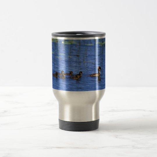 Hooded Merganser brood Travel Mug