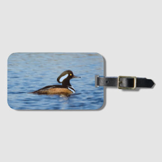 Hooded Merganser Drake Luggage Tag