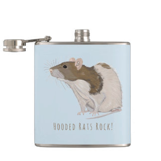 Hooded Rats Rock Agouti Hooded Rat Hip Flask