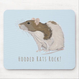 Hooded Rats Rock Agouti Hooded Rat Mouse Pad
