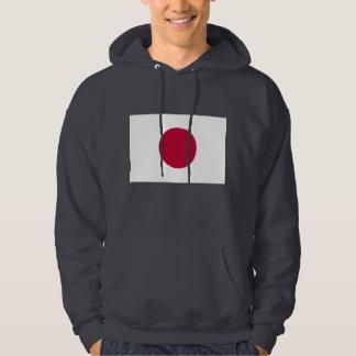 Hooded Sweatshirt with Flag of Japan