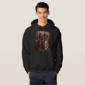 Hooded sweatshirt with motorcycle photography