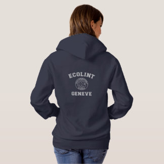 Hooded Sweatshirt with Vintage Logo on Back