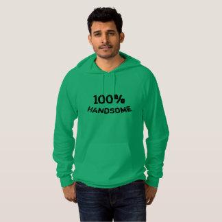 Hoodie green black 100% handsome