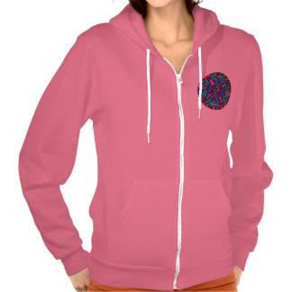 Hoodie in Pink : Peace Harmonics